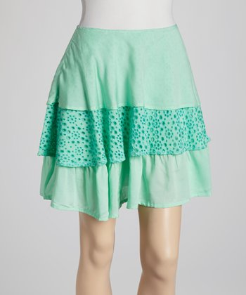 Mint Ruffle Skirt