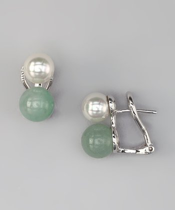 Aventurine & Pearl Earrings