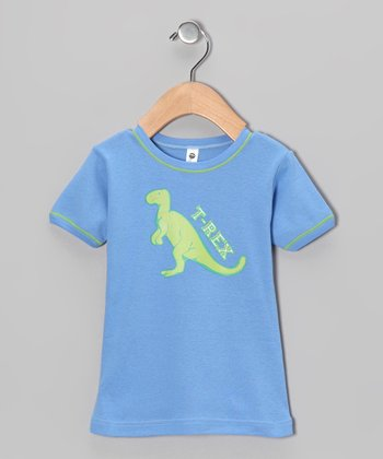 Blue 'T-Rex' Tee - Toddler & Boys