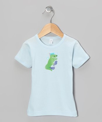 Light Blue Crocodile Snorkeling Tee - Toddler & Boys