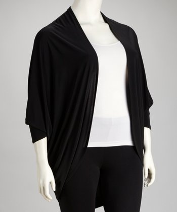 Black Plus-Size Duster