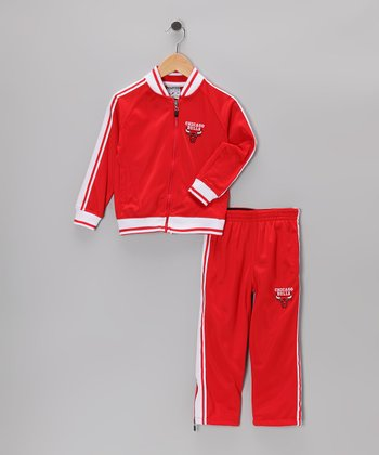 Red Chicago Bulls Jacket & Pants - Toddler