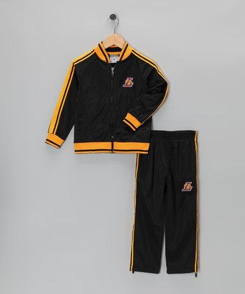 Black Los Angeles Lakers Jacket & Pants - Toddler
