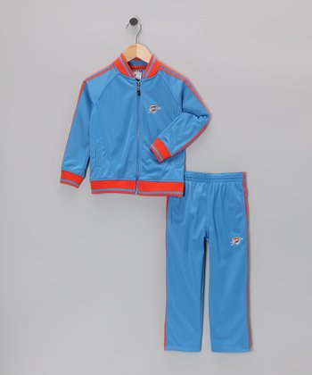Blue Oklahoma City Thunder Jacket & Pants - Toddler