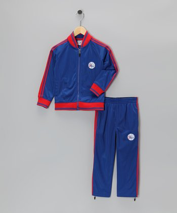 Blue Philadelphia 76ers Jacket & Pants - Toddler
