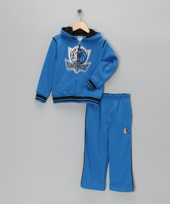 Blue Dallas Mavericks Hill Zip-Up Hoodie & Pants - Kids