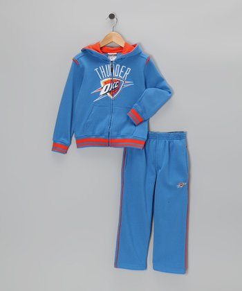 Blue Oklahoma City Thunder Hill  Zip-Up Hoodie & Pants - Kids
