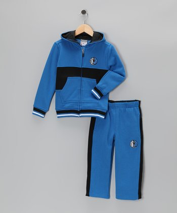 Blue Chones Dallas Mavericks Zip-Up Hoodie & Pants - Kids