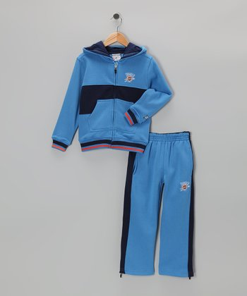 Blue Chones Oklahoma City Thunder Zip-Up Hoodie & Pants - Kids