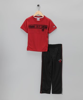 Black Miami Heat Naismith Tee & Pants - Toddler & Boys