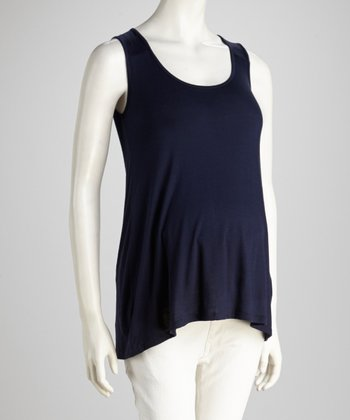Navy Maternity Tank Top