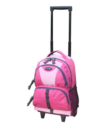 Pink Junior 18'' Wheeled Backpack