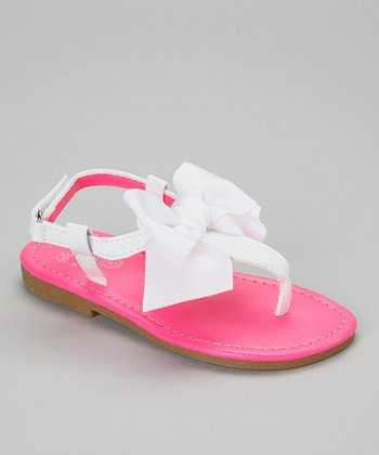 Hot Pink Bow Sandal