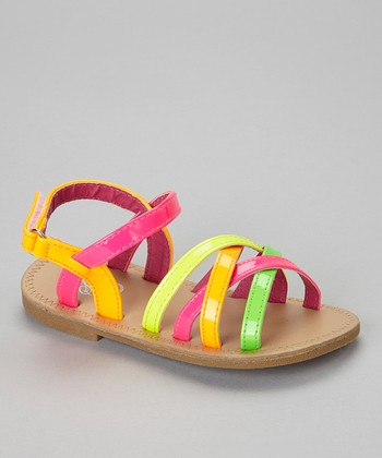 Pink & Orange Strappy Sandal