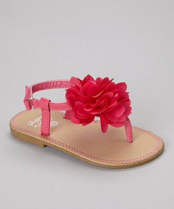 Hot Pink Flower Sandal