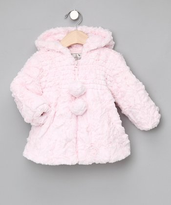 Pink Hooded Pom-Pom Jacket - Infant & Toddler
