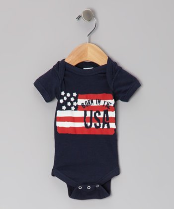 Navy 'Born in the USA' Bodysuit - Infant
