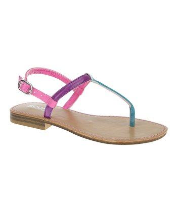 Bay Blue & Pink Color Block Sandal