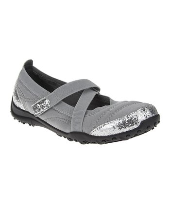 Silver Glitter Athletic Mary Jane