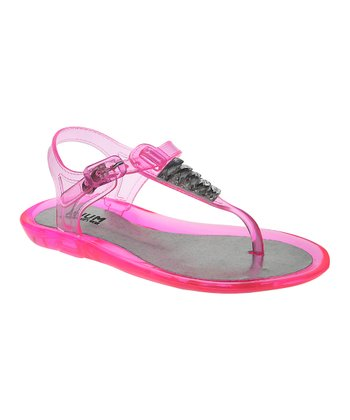 Neon Rose Jewel Jelly Sandal