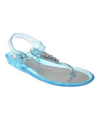 Aquamarine Jewel Jelly Sandal