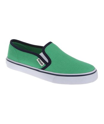 Kelly Green Canvas Slip-On Sneaker