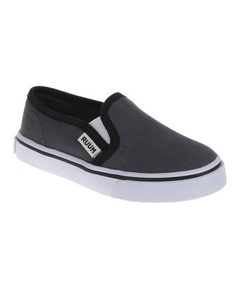 Iron Gray Canvas Slip-On Sneaker
