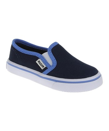 New Navy Canvas Slip-On Sneaker