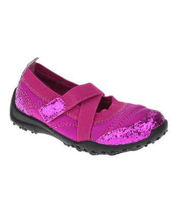 Pink Glitter Athletic Mary Jane