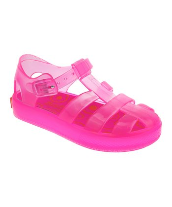 Neon Rose Jelly Closed-Toe Sandal