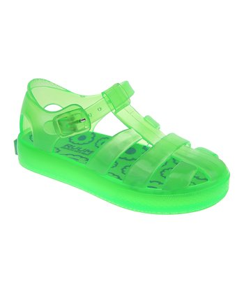Neon Lime Jelly Closed-Toe Sandal