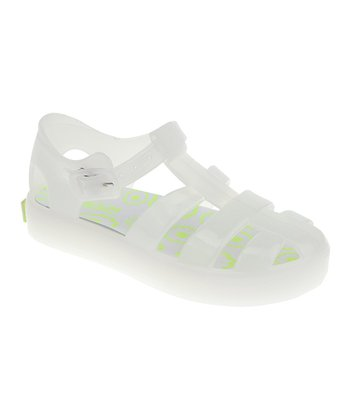 White Jelly Closed-Toe Sandal