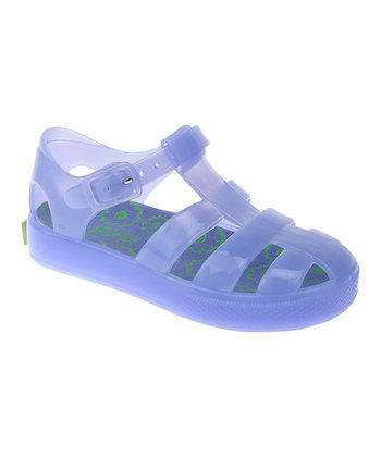 Aquamarine Jelly Closed-Toe Sandal