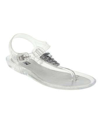 Clear Jewel Jelly Sandal