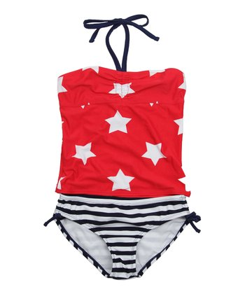 Cherry Filling Star Tankini - Girls