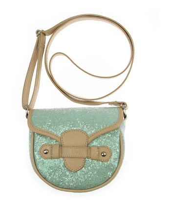 Garden Mint Glitter Crossbody Bag