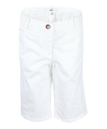 White Bermuda Shorts - Girls