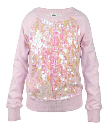 Bubblegum Pink Sequin Sweatshirt - Girls
