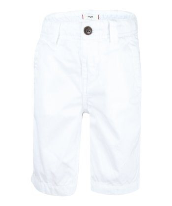 White Chino Shorts - Boys
