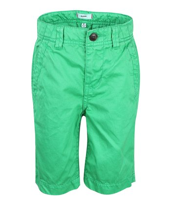 Green Crush Chino Shorts - Boys