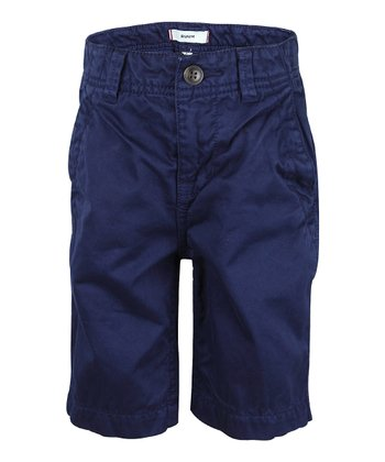 Deep Navy Chino Shorts - Boys