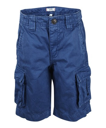 Petrol Blue Cargo Shorts - Boys