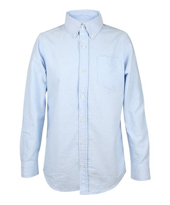 Sailing Blue Oxford Button-Up - Boys