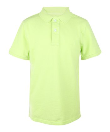 Glistening Green Polo - Boys