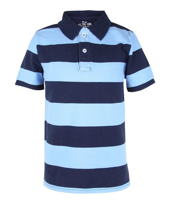 Sailing Blue Stripe Polo - Boys