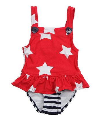 Cherry Filling Star Skirted One-Piece - Infant & Toddler