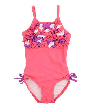Coral Kiss Floral One-Piece - Infant & Toddler