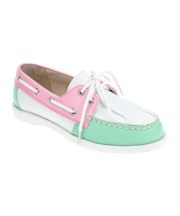Bubblegum & Garden Mint Boat Shoe