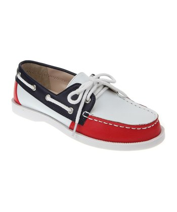 Deep Navy & Cherry Filling Boat Shoe