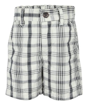 Chic Cream Plaid Shorts - Infant & Toddler